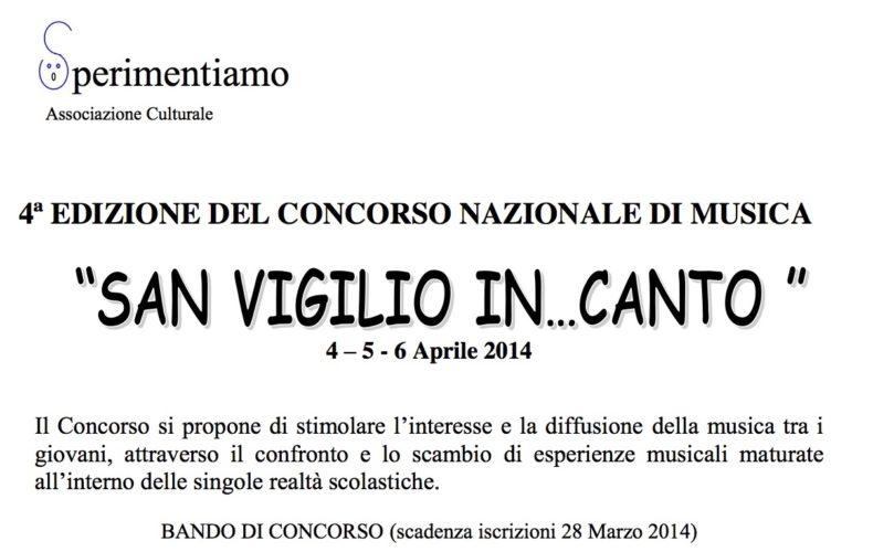 """Concorso Nazionale di Musica """"San Vigilio In...Canto 2014"""""""
