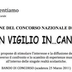 """Concorso Nazionale """"San Vigilio In...Canto 2011"""""""