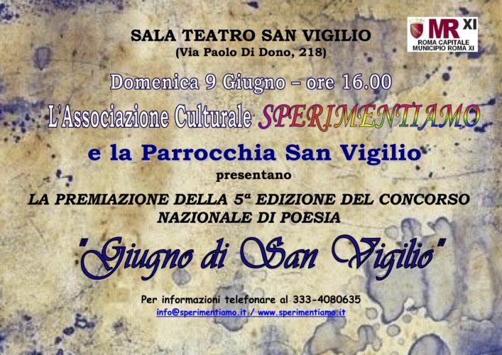 """Concorso Nazionale di Poesia """"Giugno di San Vigilio 2013"""""""