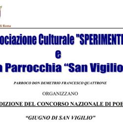 """Concorso Nazionale di Poesia """"Giugno di San Vigilio"""" 2010"""