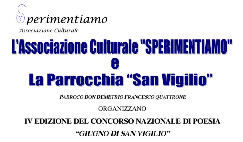 """Concorso Nazionale di Poesia """"Giugno di San Vigilio 2012"""""""