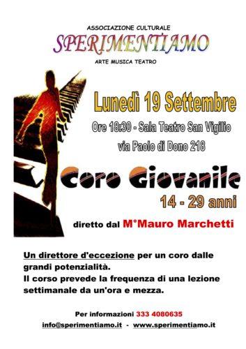 Coro Giovanile 14-29 anni  - Incontro conoscitivo con il M° Mauro Marchetti