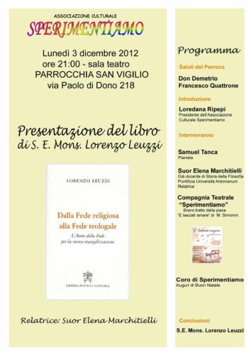 Presentazione libro Mons. Lorenzo Leuzzi