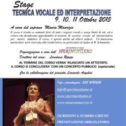 Stage di tecnica vocale ed interpretazione
