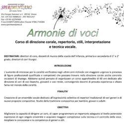 Armonie di voci - Corso di Direzione Corale