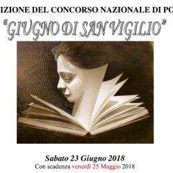 """10° Concorso Nazionale di Poesia """"Giugno di San Vigilio"""" 2018"""
