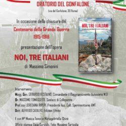 Noi, tre italiani, Locandina Gonfalone