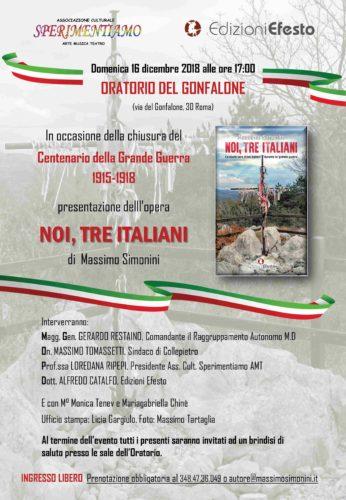 Noi, tre Italiani - Oratorio del Gonfalone