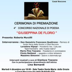 """4° Concorso di Poesia """"Giuseppina De Florio"""""""