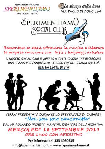 NEWS: Presentazione SPERIMENTIAMO SOCIAL CLUB.