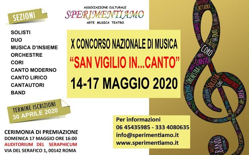 """X Concorso Nazionale di Musica """"San Vigilio In...Canto"""""""